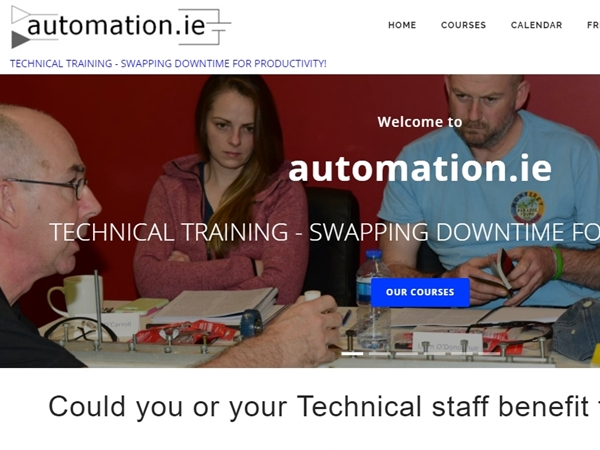 Automation.ie Website Design Example