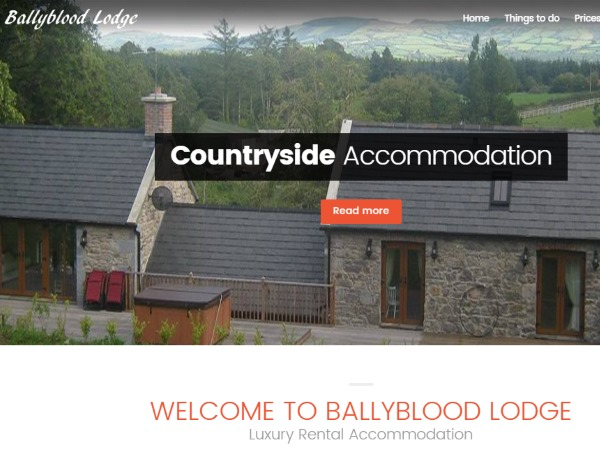 Ballyblood Lodge Website Design Example