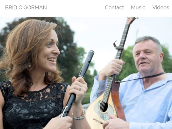 Brid O'Gorman Website Design Example