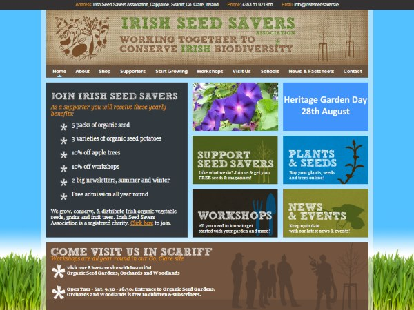 Irish Seed Savers Association Website Design Example