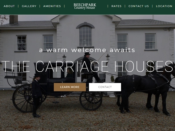 The Carriage Houses Website Design Example