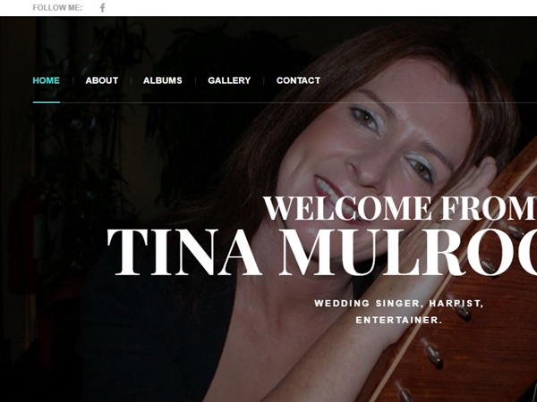 Tina Mulrooney Website Design Example