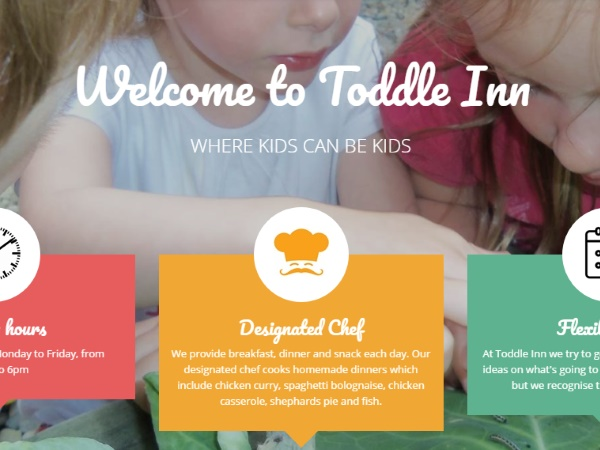 Toddle Inn Website Design Example