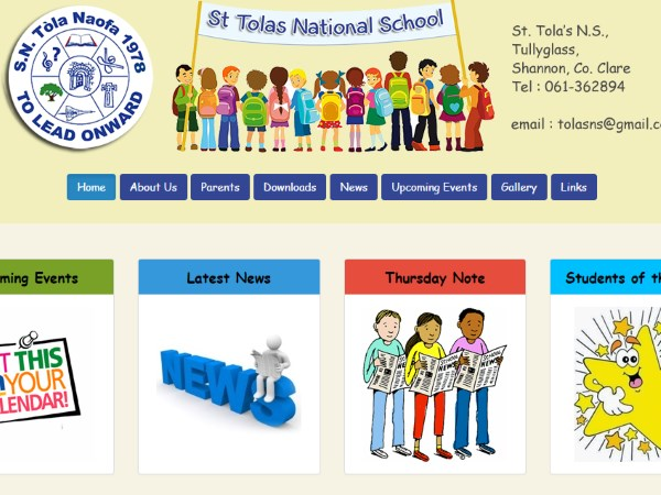St. Tola's National School Website Design Example